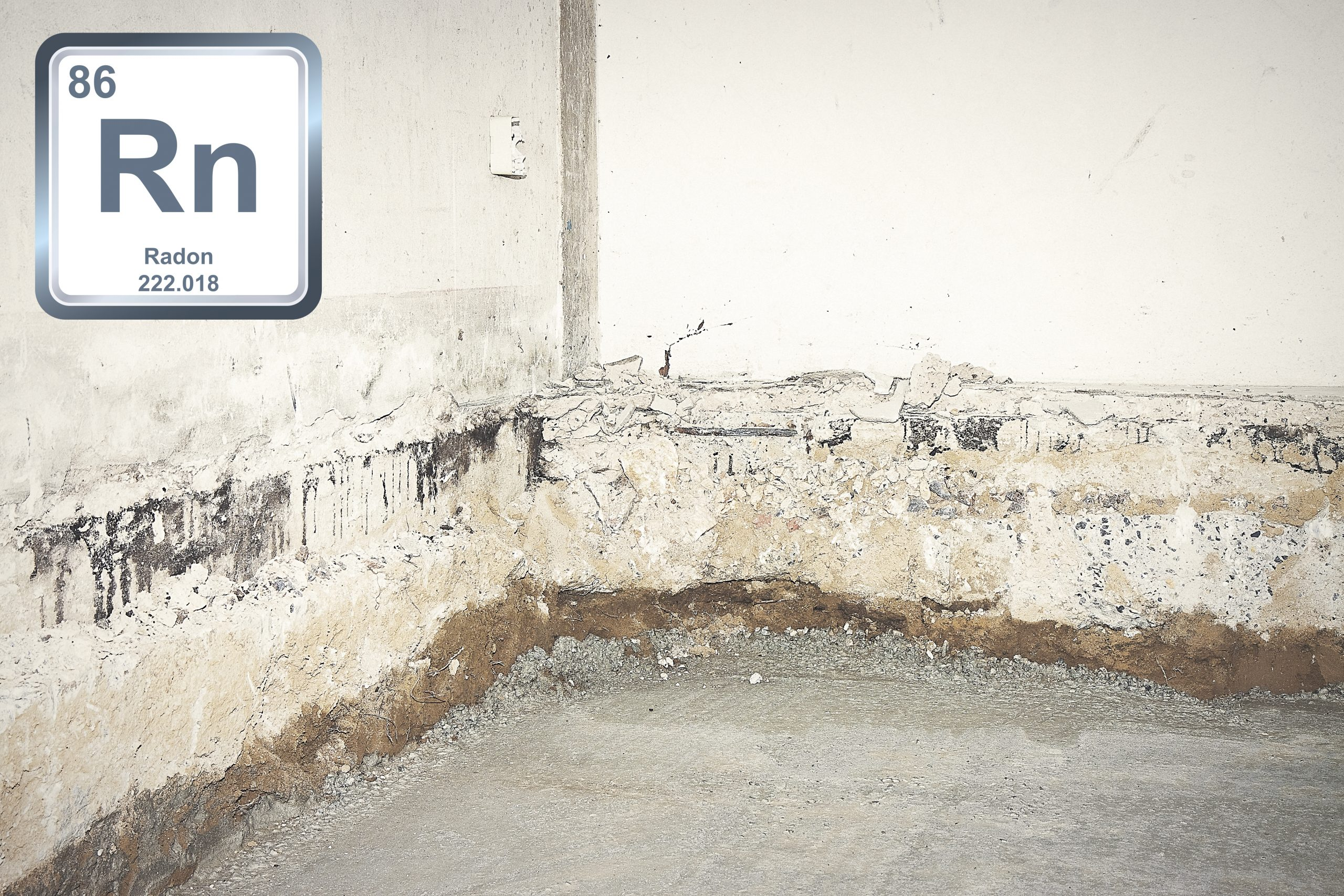 Preparatory stage for the construction of a ventilated crawl space in an old brick building
